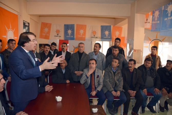 Milletvekili Aydemir'e Karayazı'da coşkulu karşılama galerisi resim 2