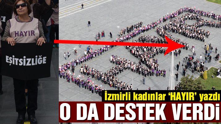 CHP'li kadınlar, 8 Mart'ta bedenleriyle 'hayır' yazdı