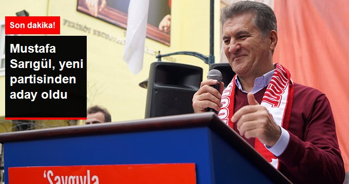 Mustafa Sarıgül, DSP'den Belediye Başkan Adayı Oldu