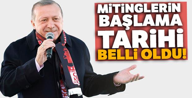 Cumhurbaşkanı Erdoğan mitinglere Sivas'tan başlıyor