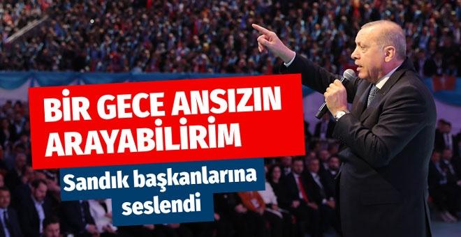 Erdoğan sandık başkanlarına uyarı