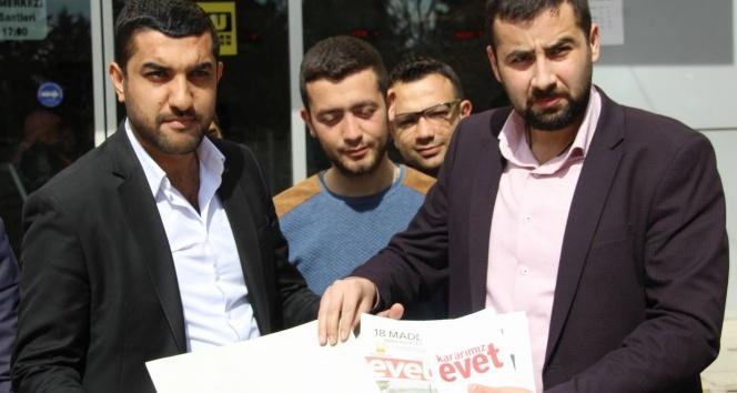 Kılıçdaroğlu'na Kilis'ten 'evet' gazetesi ve kitapçığı gönderildi
