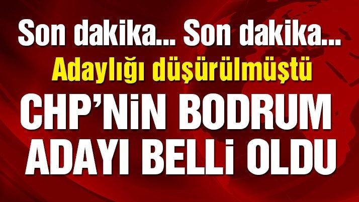 CHP'nin Bodrum adayı belli oldu