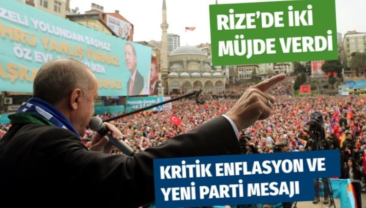 Cumhurbaşkanı Erdoğan'dan Rize'de kritik mesajlar