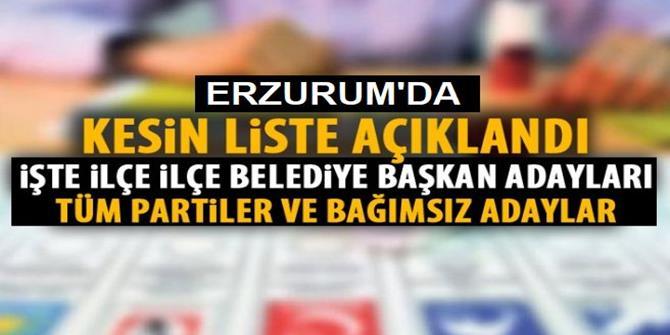 Erzurum'da Kesin aday listeleri ilan edildi