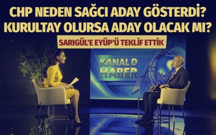 CHP liderinden Sarıgül cevabı