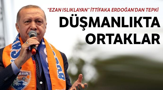 Erdoğan: Karşılarında olmak namus borcumuz