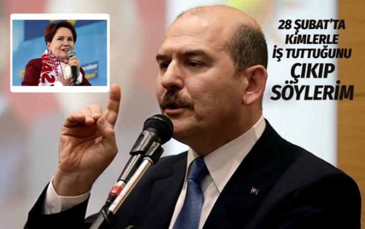 Süleyman Soylu'dan Akşener'e şok sözler