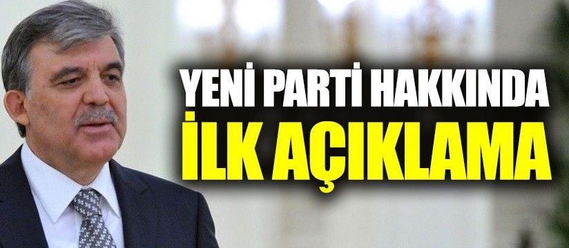 Abdullah Gül yeni parti iddialarını reddetmedi