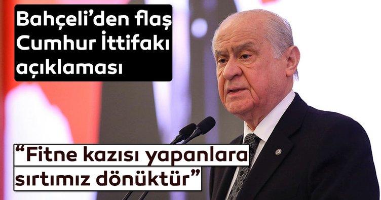 MHP lideri Devlet Bahçeli'den son dakika Cumhur İttifakı açıklaması