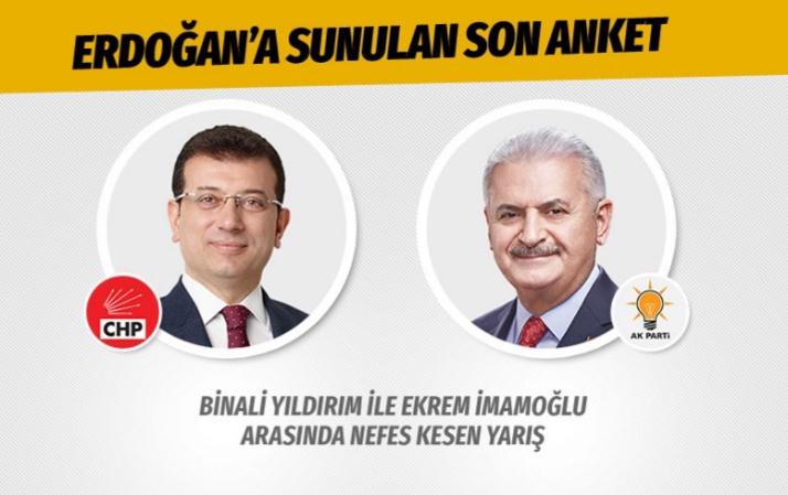 İstanbul seçimleri için son anket Cumhurbaşkanı Erdoğan'ın masasında