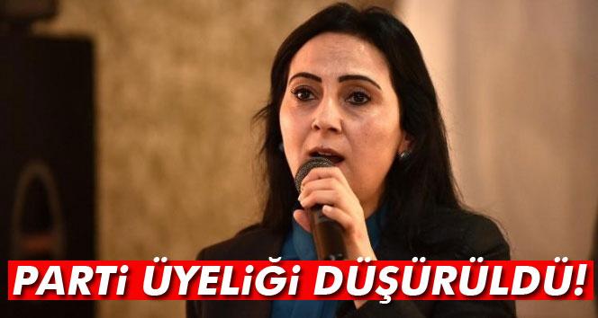 HDP Eş Başkanı Yüksekdağ'ın parti üyeliği düşürüldü