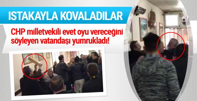 CHP'li vekil 'evet' diyen vatandaşı yumrukladı!