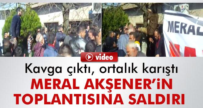 Kocaeli'nde Meral Akşener'in toplantısına saldırı