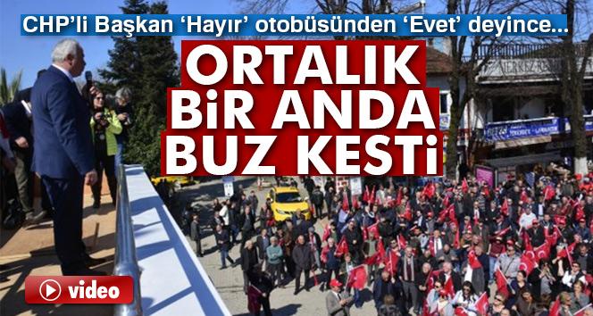 CHP'li Başkan 'Hayır' otobüsünden 'Evet' deyince