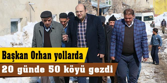 20 günde 50 köyü gezdi