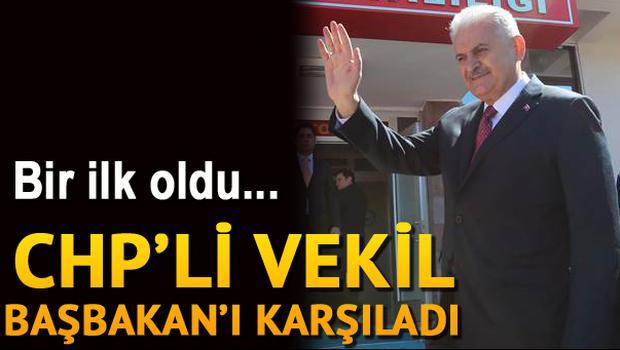 Yıldırım'ı CHP'li milletvekili karşıladı
