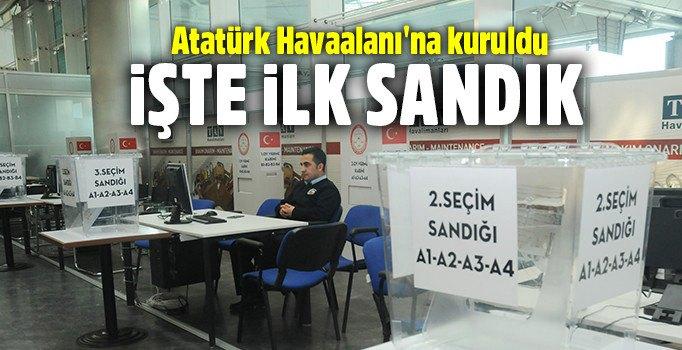 Atatürk Havalimanı'na oy sandıkları kondu