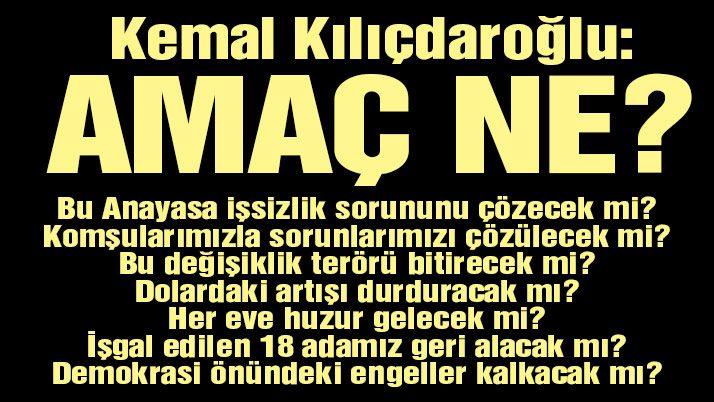 Kılıçdaroğlu: 'Hayır' oyunuz hayırlı olsun