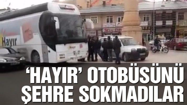 Bayburt'ta 'hayır' otobüsüne geçit yok