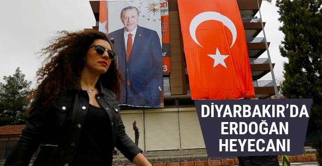 Diyarbakır'da Erdoğan heyecanı Reuters bu fotoğrafları yayınladı
