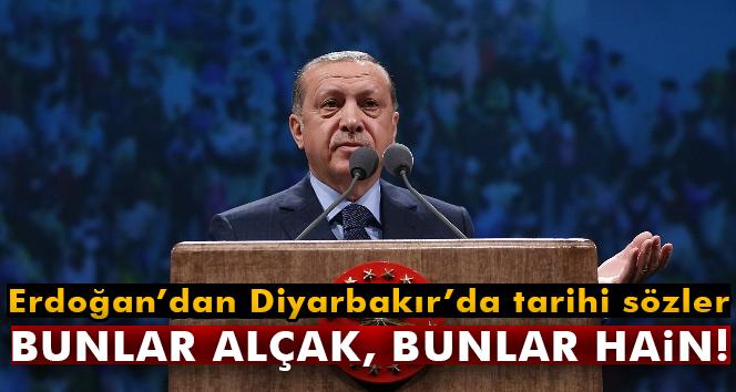 Erdoğan'dan Diyarbakır'da tarihi sözler