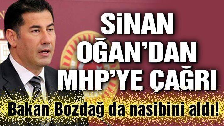Sinan Oğan'dan MHP'ye çağrı