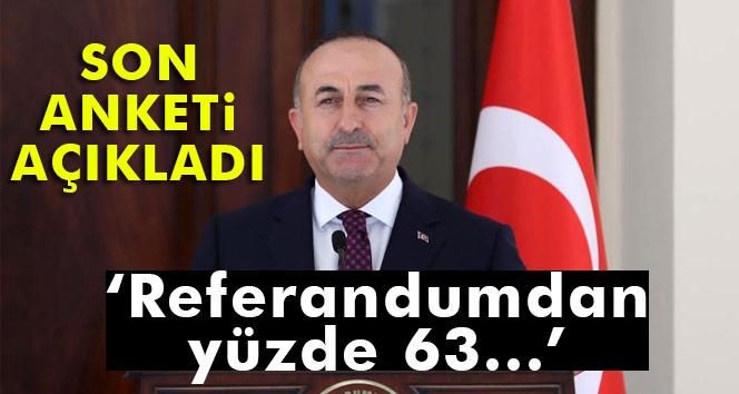 Çavuşoğlu: 'Yüzde 63 'evet' bekliyorum'