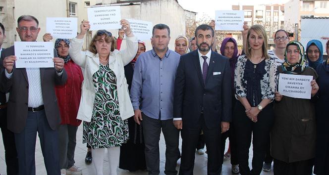 15 Temmuz Gazileri Platformu,'Bizi çok yaraladın Kılıçdaroğlu'