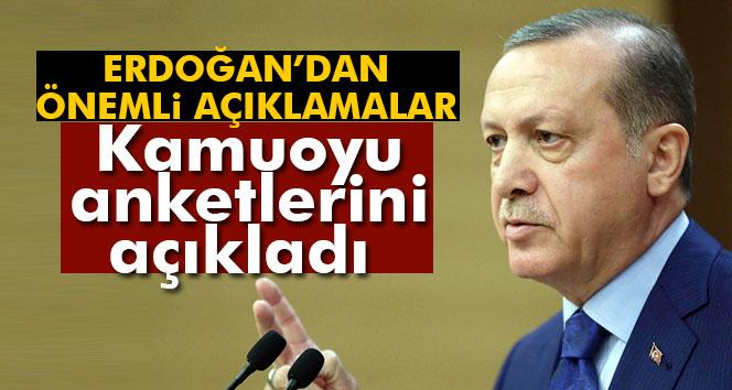 Erdoğan kamuoyu anketlerini açıkladı