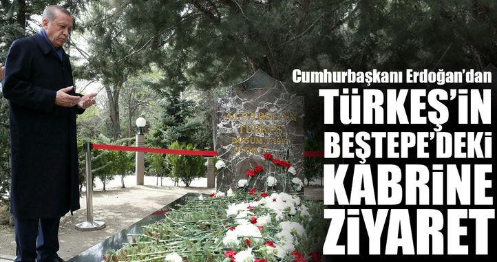 Erdoğan'dan Türkeş'in kabrine ziyaret