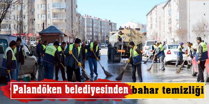 Palandöken belediyesinden bahar temizliği
