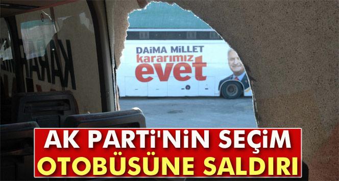 AK Parti'nin seçim otobüsüne saldırı