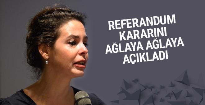 Batu referandum kararını ağlaya ağlaya açıkladı