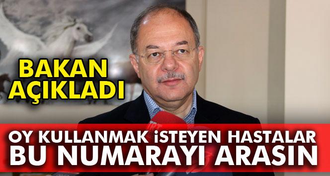 Bakan Akdağ açıkladı: Oy kullanmak isteyen hastalar...
