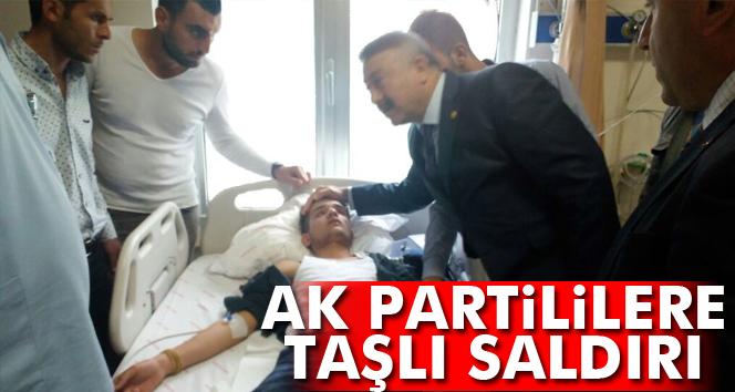 AK Parti'lilere taşlı saldırı: 5 yaralı