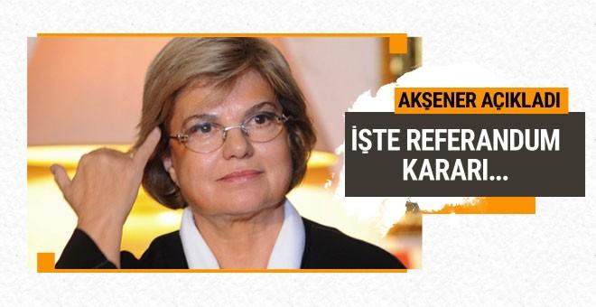 Tansu Çiller'in referandum oyu belli oldu