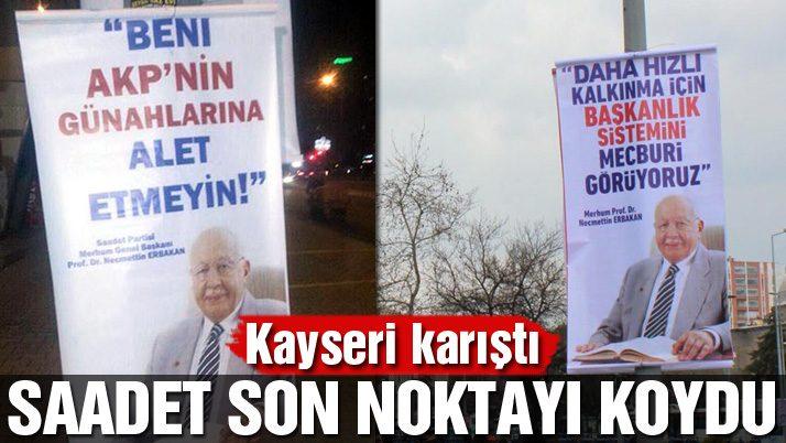 Kayseri'de Erbakan afişleriyle evet hayır yarışı