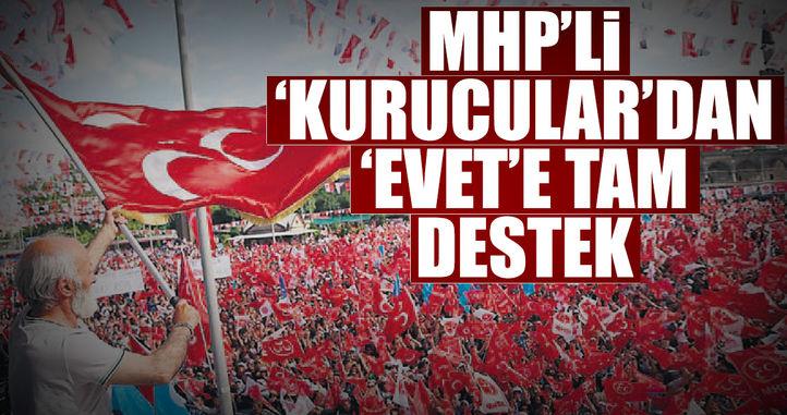 MHP'li 'Kurucular'dan 'evet'e tam destek