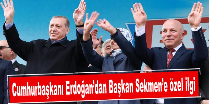 Cumhurbaşkanı Erdoğan'dan Başkan Sekmen'e özel ilgi