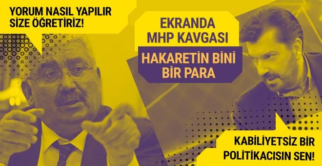 Habertürk'te kıyamet koparan MHP kavgası