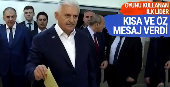 Oyunu kullanan ilk lider Başbakan Yıldırım