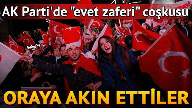 """AK Parti'de """"evet zaferi"""" coşkusu"""