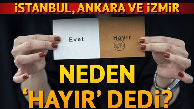 İstanbul, Ankara ve İzmir neden 'hayır' dedi