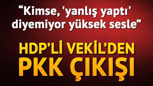 Tan: Kimse, 'PKK yanlış yaptı' diyemiyor