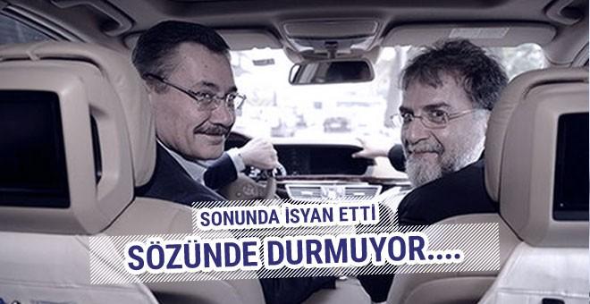 Ahmet Hakan isyan etti