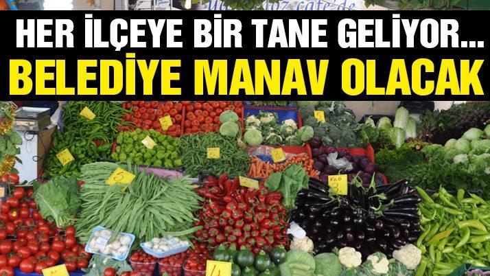 Belediye sebze meyve satmaya hazırlanıyor