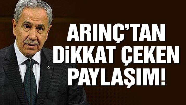 Bülent Arınç, Ahmet Hakan'ı retweetledi
