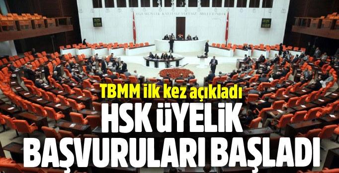 TBMM HSK'ya seçilecek 7 üyelik için duyuru yaptı