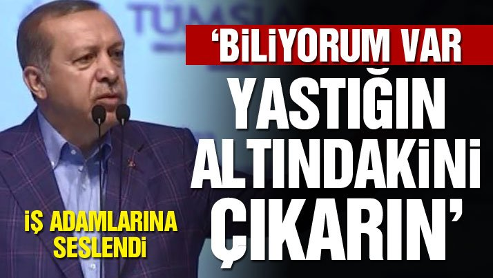 Erdoğan iş adamlarına seslendi